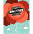 Birthday card design template vector image