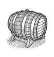 vintage wooden barrel poster vector image