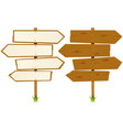 arrows wooden sign vector image
