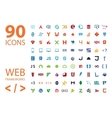 Web development framework icon set vector image