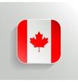 Button - Canada Flag Icon vector image