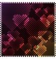 Mosaic heart lights vector image