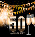 50 anniversary emblem template design background vector image vector image