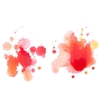 Abstract watercolor aquarelle hand drawn red drop vector image vector image