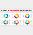 arrows infographic circle chart diagrams vector image