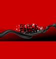 black friday banner design cloth and line wave vector image