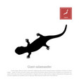 black silhouette a japanese giant salamander vector image
