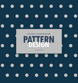 blue polka dots background with gray circles vector image vector image