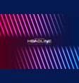 blue purple neon laser rays abstract background vector image