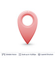 bright location pin vector image vector image