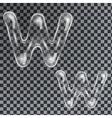 Bubbles letters W vector image vector image