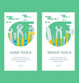 building tools cards vector image vector image
