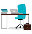 business office workplace with computer vector image vector image