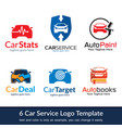 car service logo template vector image