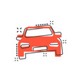 cartoon car icon in comic style automobile vector image