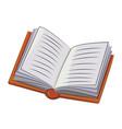 cartoon image of book icon book symbol vector image vector image