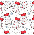 christmas socks seamless pattern vector image vector image