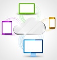 Cloud computing concept background tablet vector image vector image