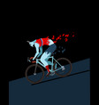cyclist zombie vector image