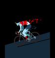 cyclist zombie vector image