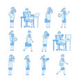 doctor woman characters medical specialist young vector image