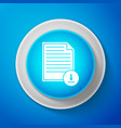 document with download icon file document symbol vector image