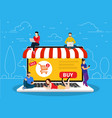 e-commerce cart concept vector image