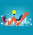 entrepreneur startup concept business vector image vector image