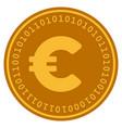 euro digital coin vector image