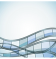 film background blue retro vector image vector image