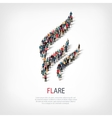 flare people sign 3d vector image vector image