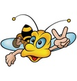 Flying Wasp vector image vector image
