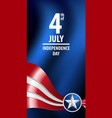 fourth of july independence day of the usa vector image vector image