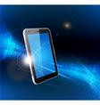 futuristic mobile phone vector image vector image