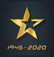 gold star for victory day anniversary