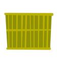 Green cargo container cartoon