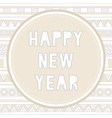 Happy new year greeting card9 vector image