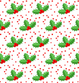 Holly seamless pattern background vector image vector image