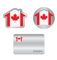 home icon on canada flag vector image