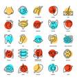 human anatomy set internal organs icons in line vector image vector image