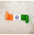 India Flag on realistic curved Tag vector image