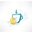Lemon tea grunge icon vector image