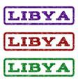 libya watermark stamp vector image