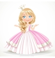 Little princess in crown wearing in magnificent vector image vector image