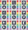 Lock Connection Gear Clapper RSS Scissors Talk vector image vector image