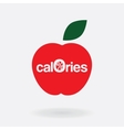 logo icon zero calories a stylized apple vector image vector image