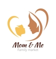 logo mother and her bahealthcare or bashop vector image vector image