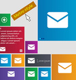Mail Envelope Message icon sign Metro style vector image