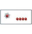 new year card inspired pendulum balls vector image vector image
