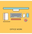 Office Work vector image vector image
